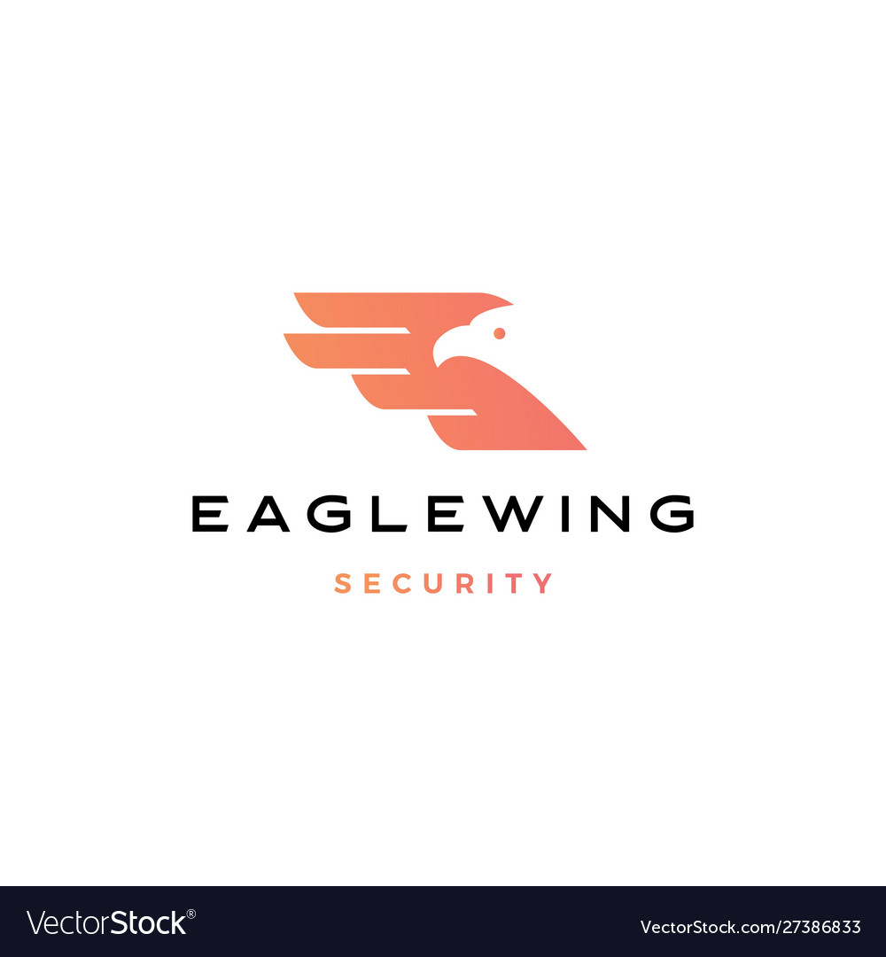 Eagle wing bird logo icon