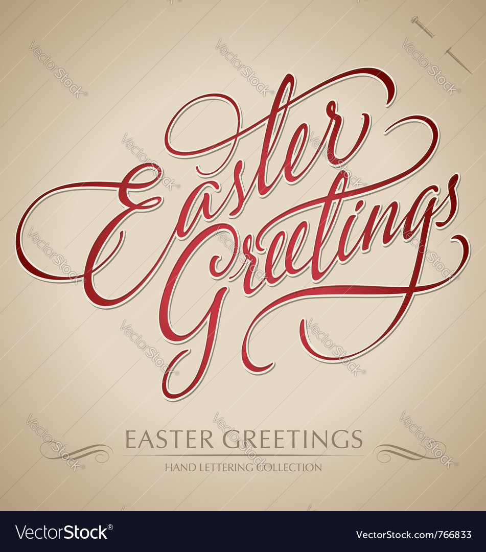 Easter greetings hand lettering