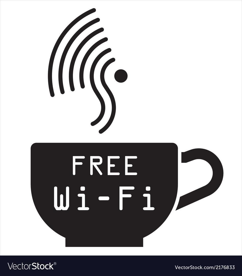 Internet cafe free WiFi symbol