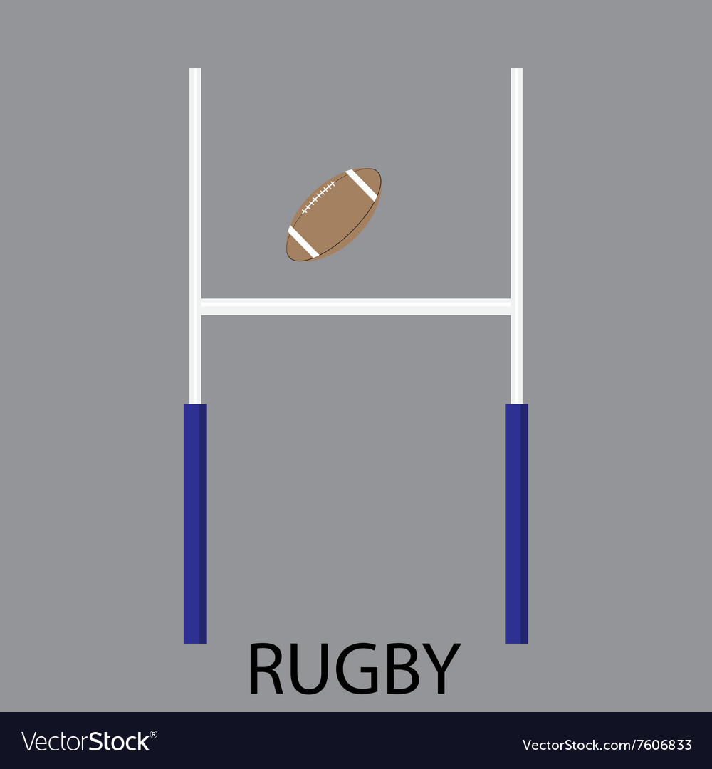 Rugby sport icon flat vector image