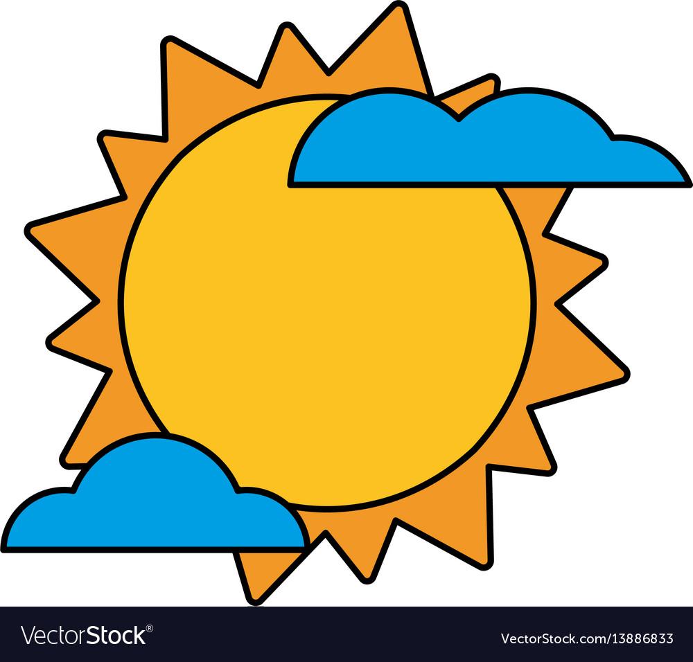 Sun cloud weather image