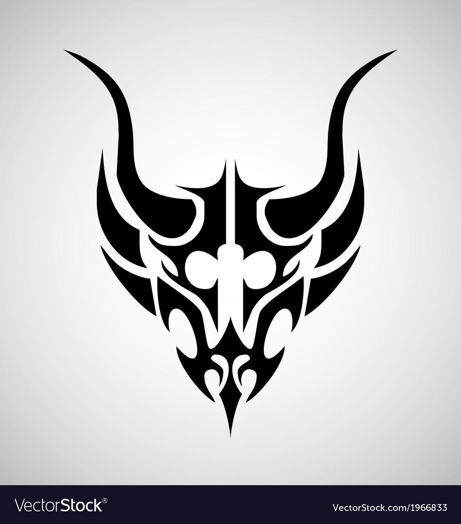 Tribal Demon Head