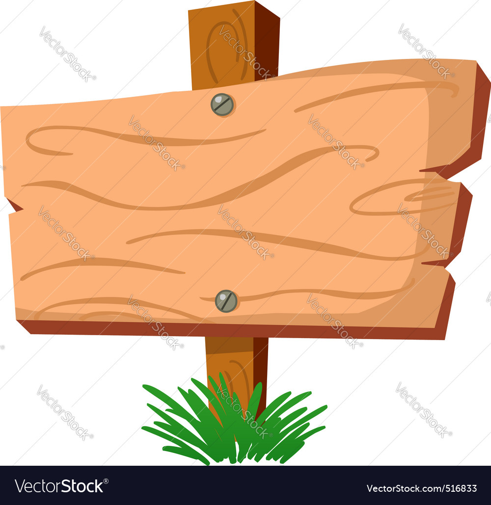 wood sign royalty free vector image vectorstock rh vectorstock com hanging wood sign vector wood sign vector png