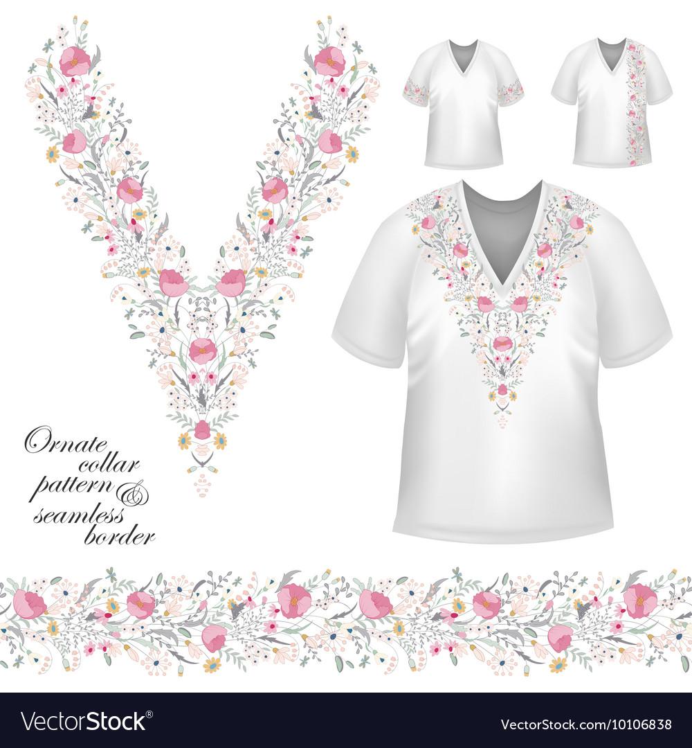 Collar vintage design vector image