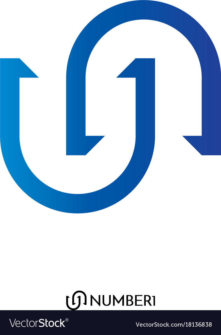 Initial letter u and n or s and c logo with