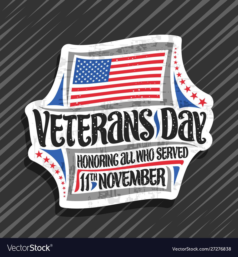 Logo for veterans day
