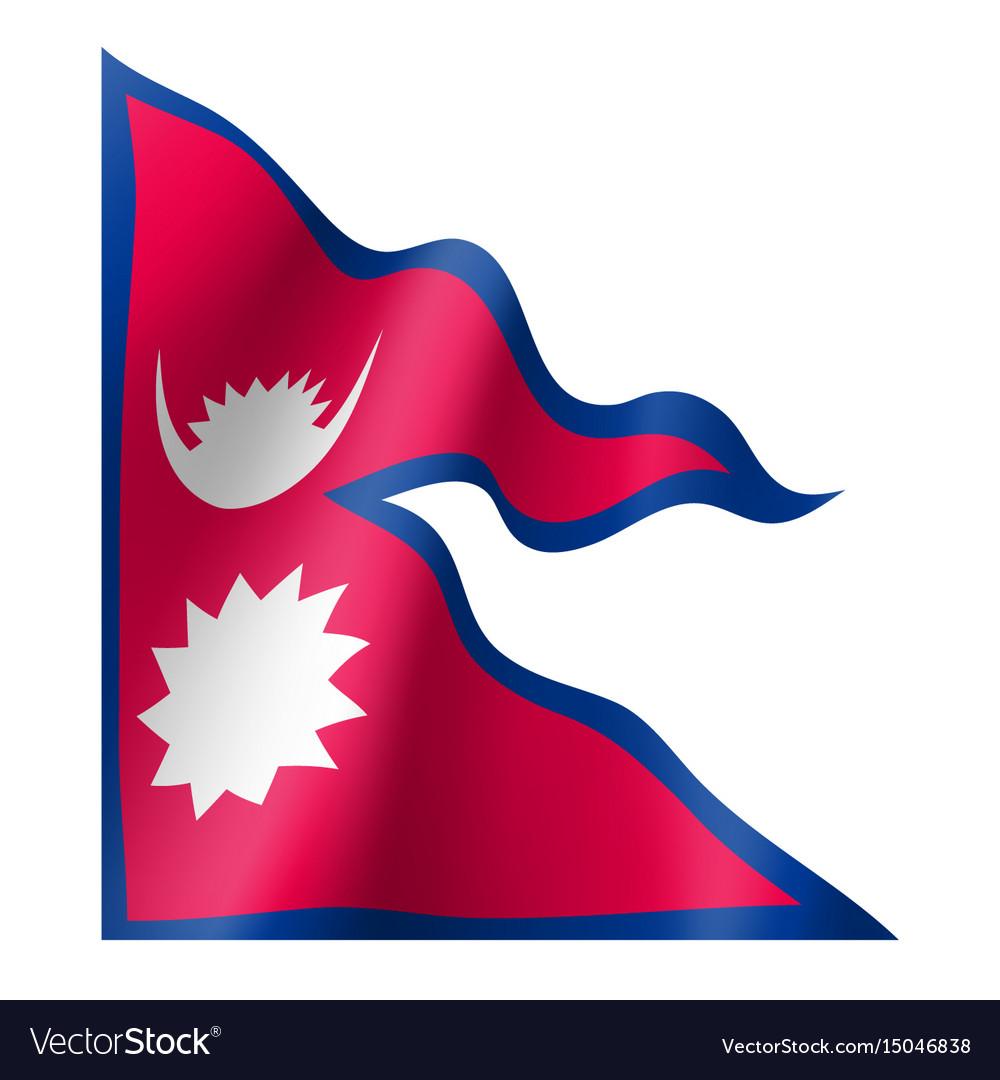 Nepal flag flat style Royalty Free Vector Image