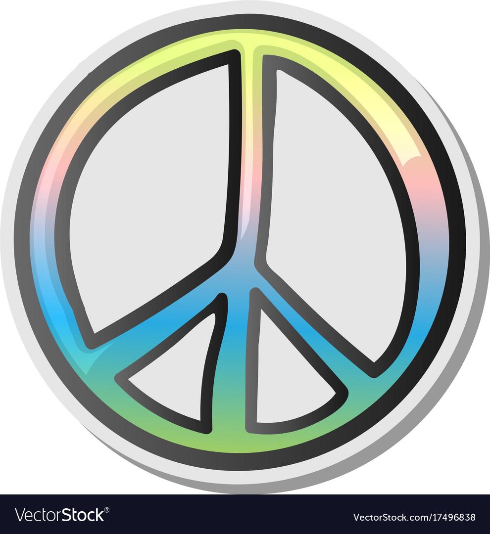 Peace Sign Emoji Sticker Emoticon Royalty Free Vector Image