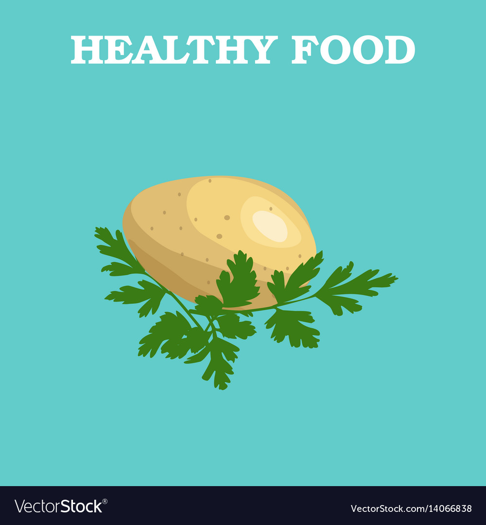 Potatoes icon in flat style isolated object