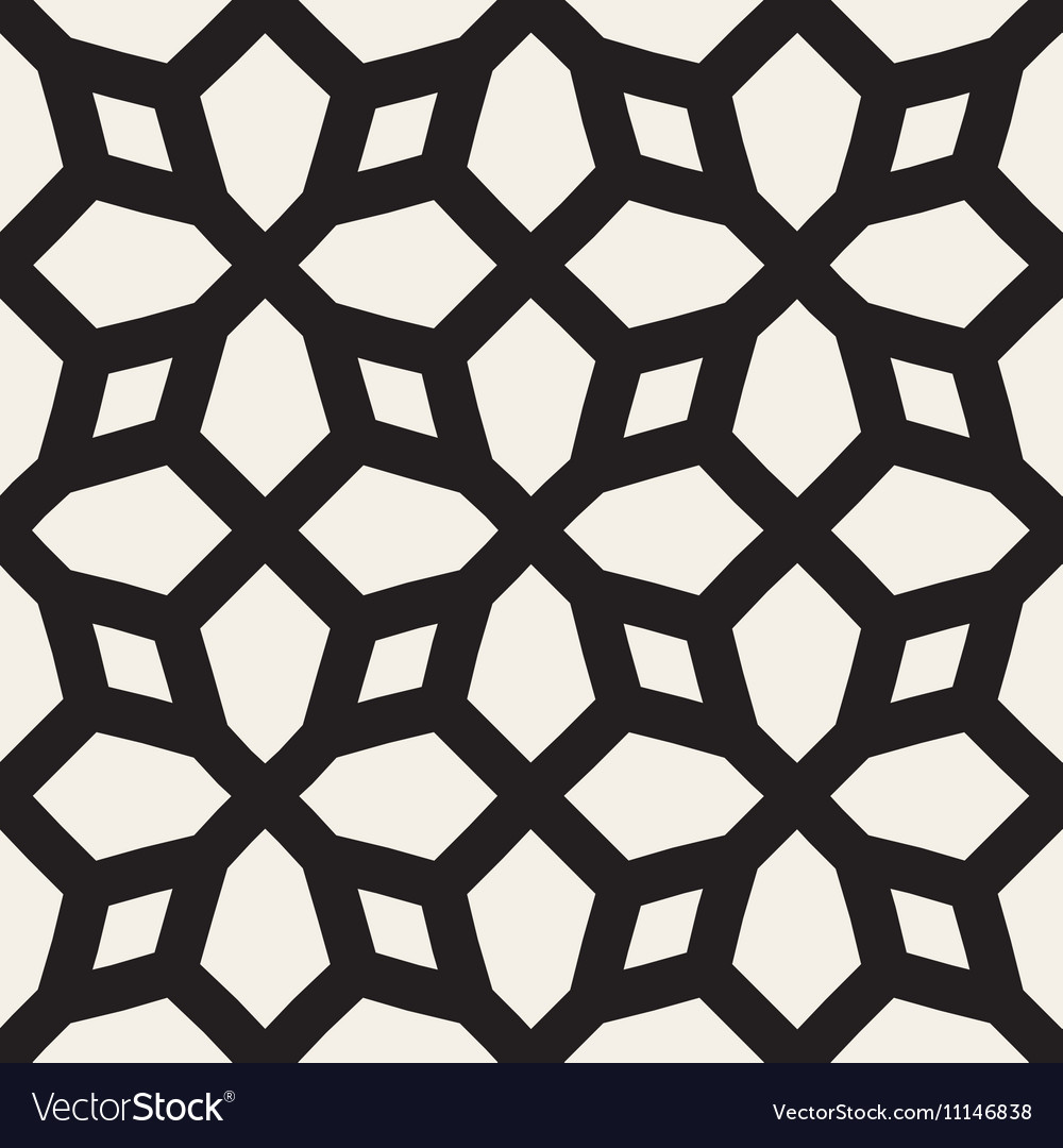 Seamless Black and White Geometric Pattern