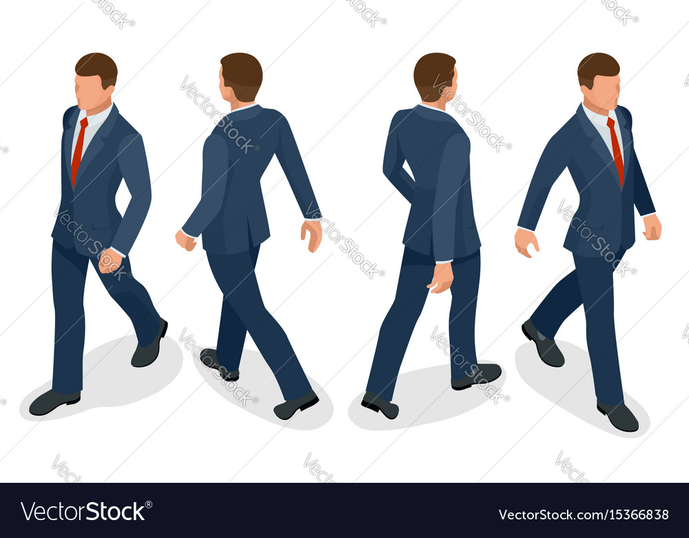 Set of businessman man on white background