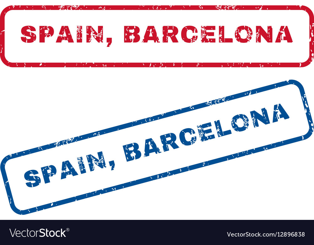 Spain Barcelona Rubber Stamps