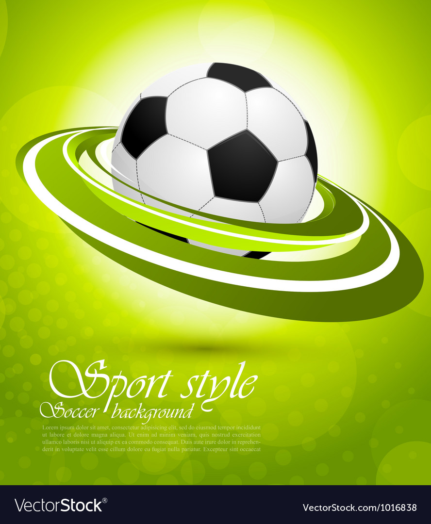 Sport background in green color