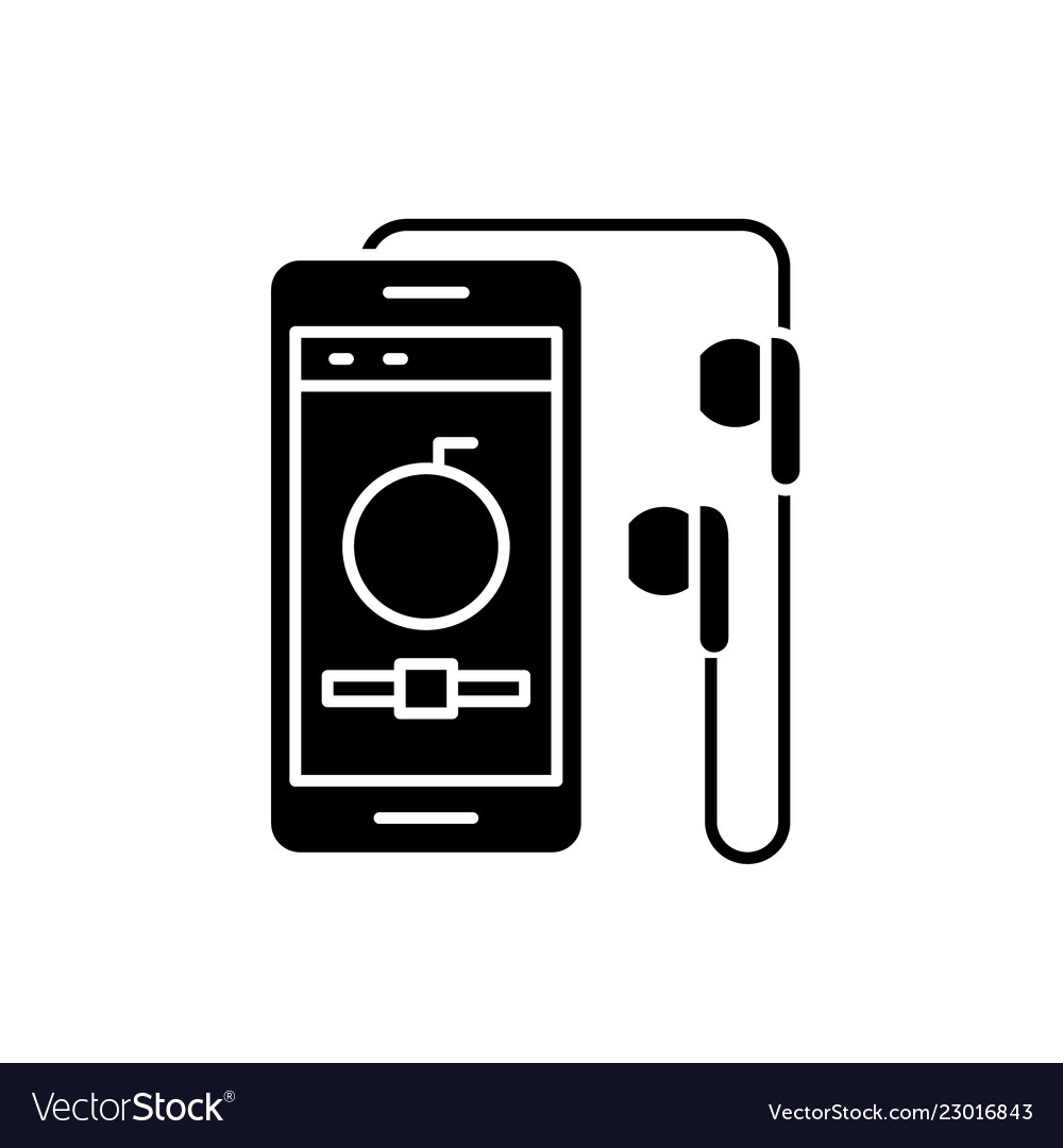 Audio player black icon sign on isolated
