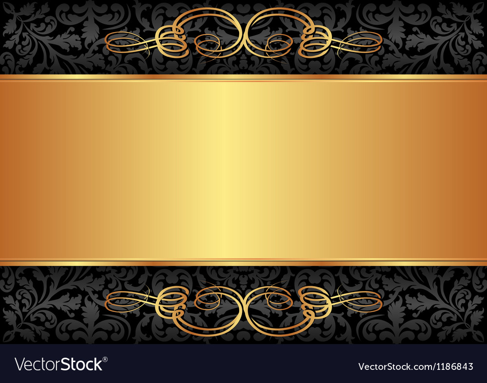 Black And Gold Background Royalty Free Vector Image
