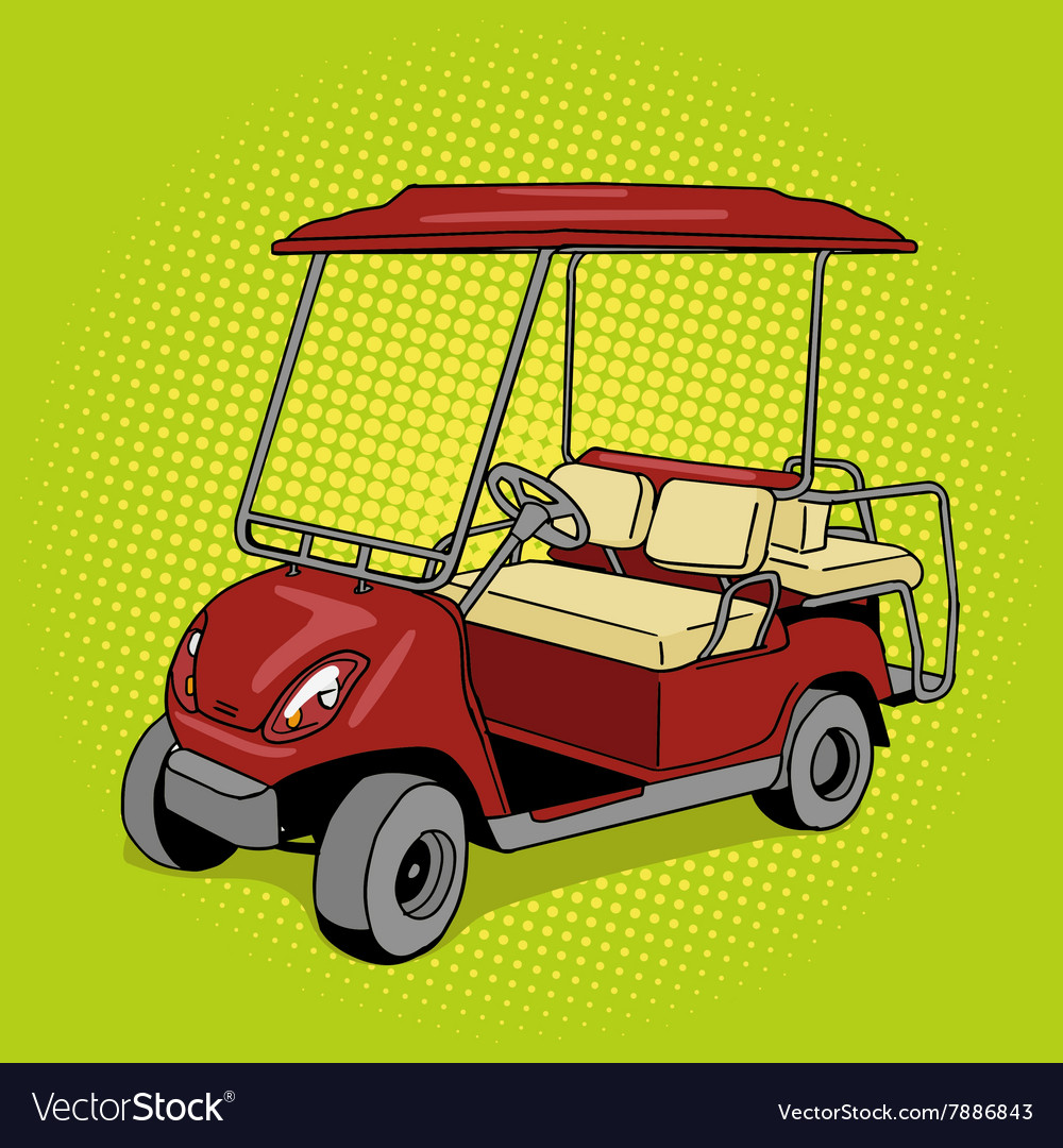 Golf cart pop art style