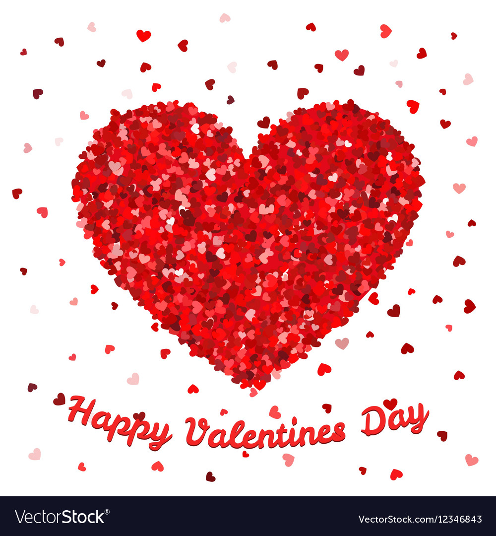 Happy Valentines Day poster or card template Big