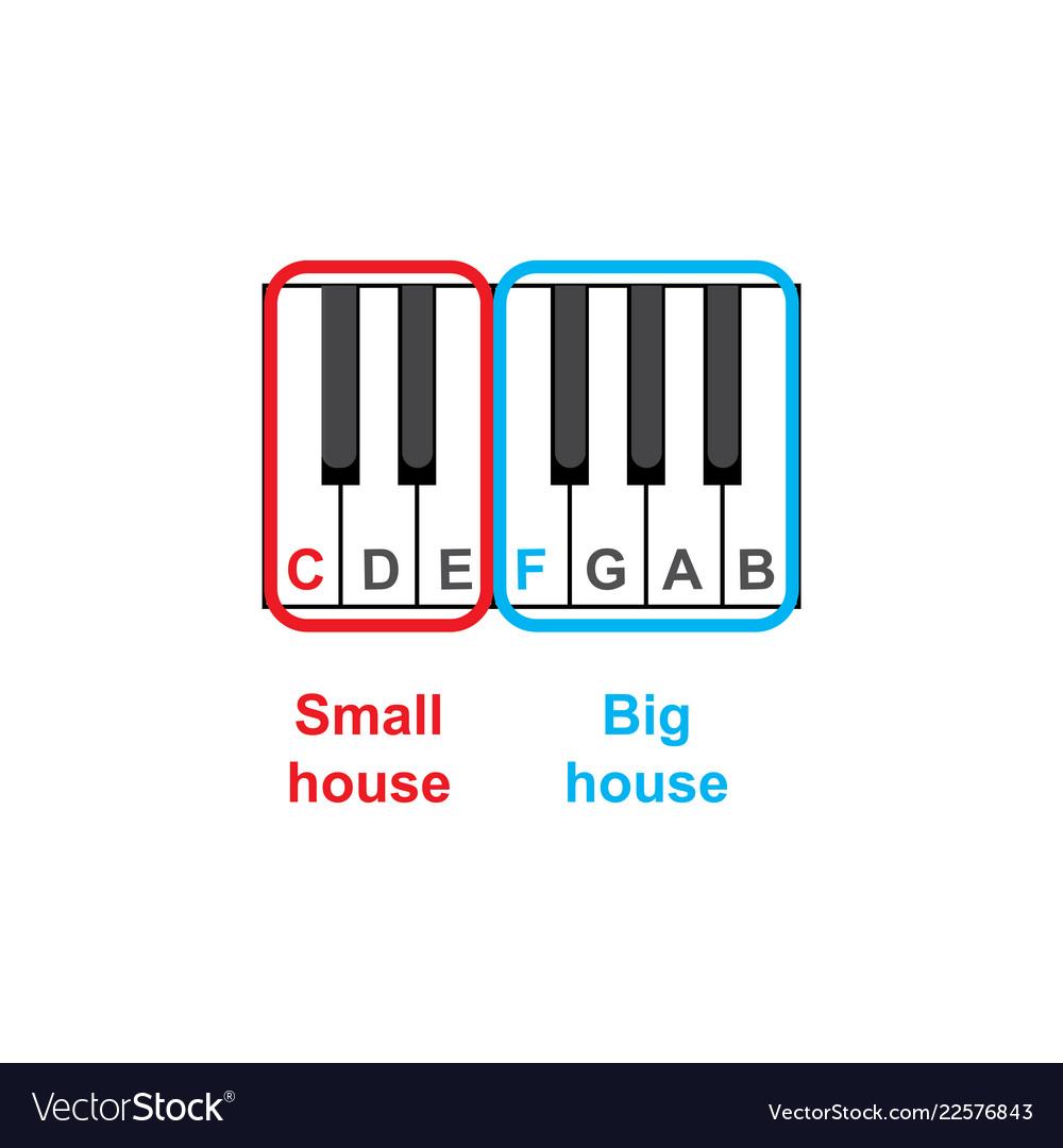7bbfd9264da Piano keyboard diagram - piano keyboard layout Vector Image