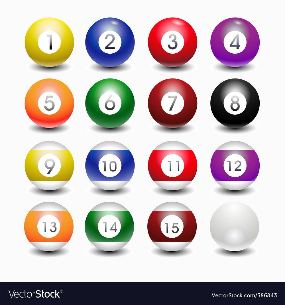 Snooker balls vector image