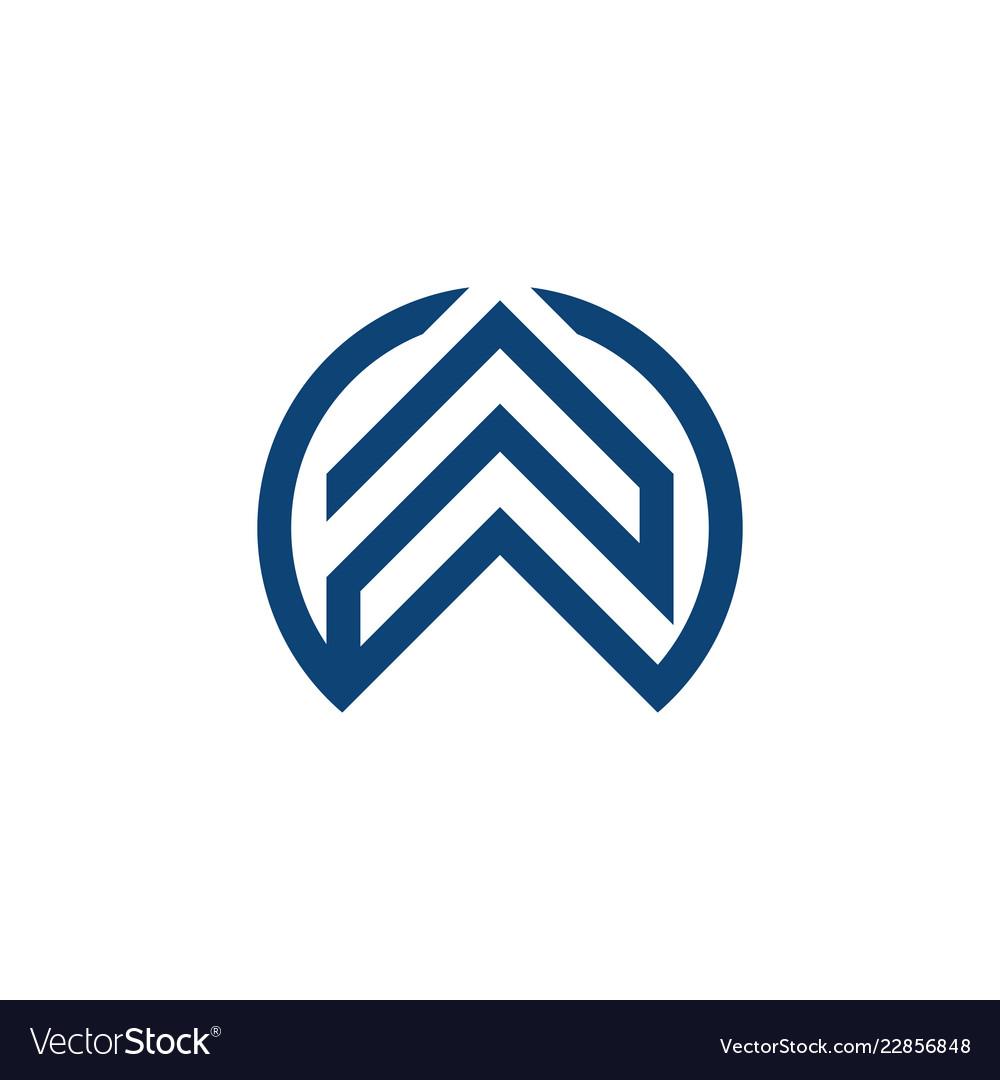 Abstract arrow business logo