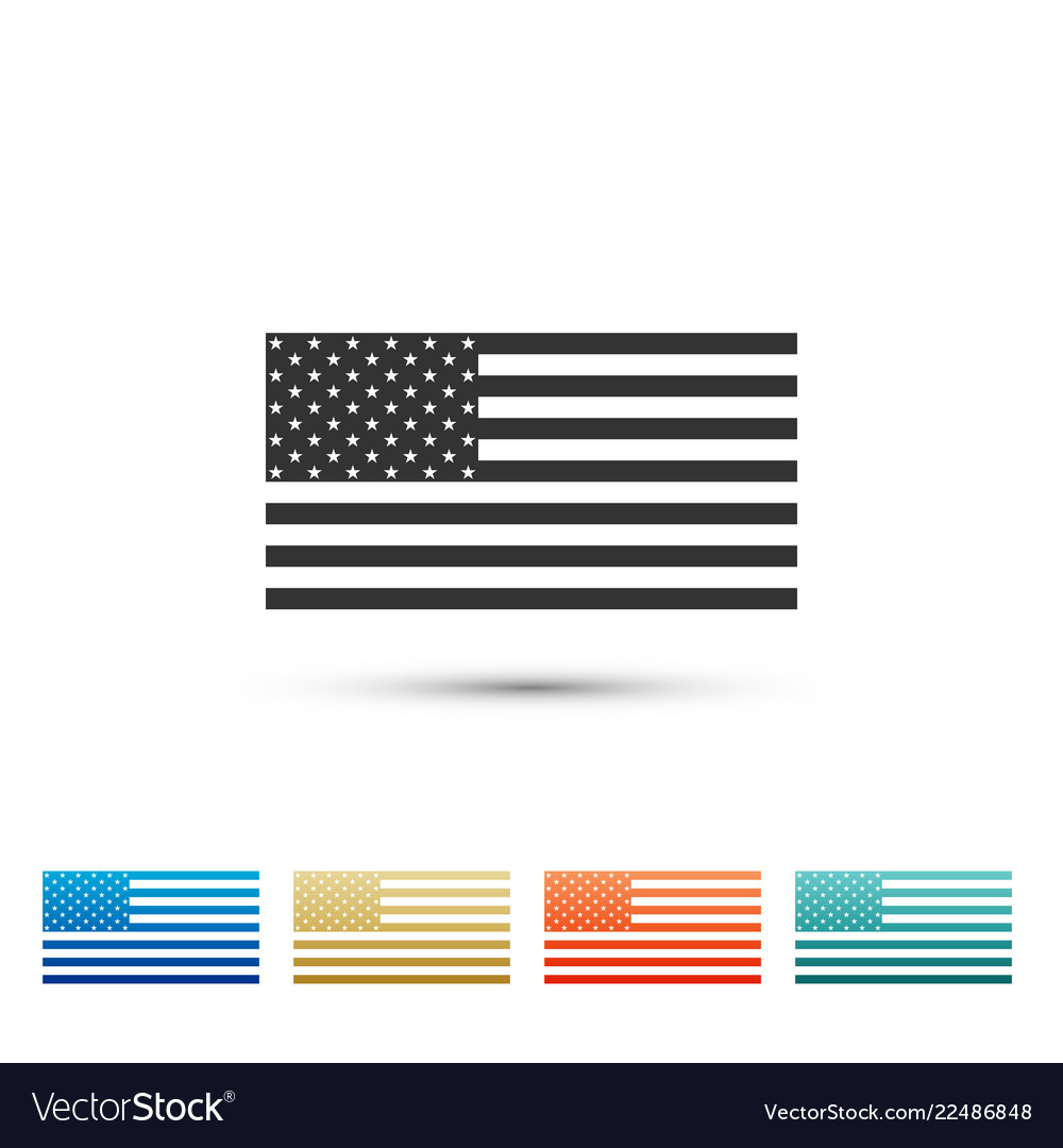 American flag icon isolated flag of usa