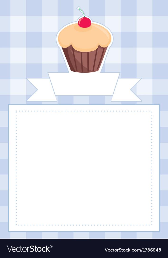 Blue Restaurant Menu Card Baby Shower List Vector Image