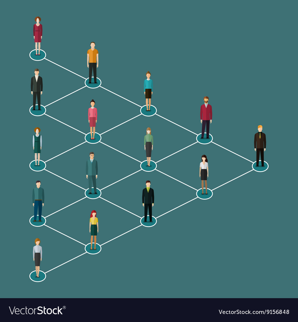 Concept of network marketing