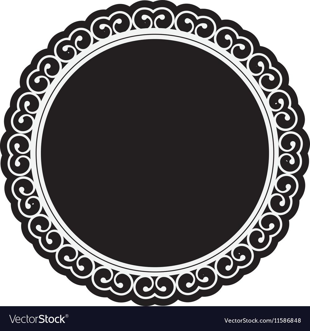 Embellished emblem icon image vector image