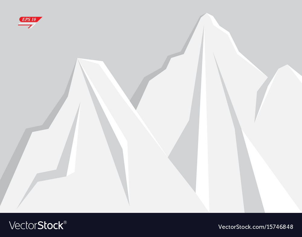 Geometric mountain background vector image