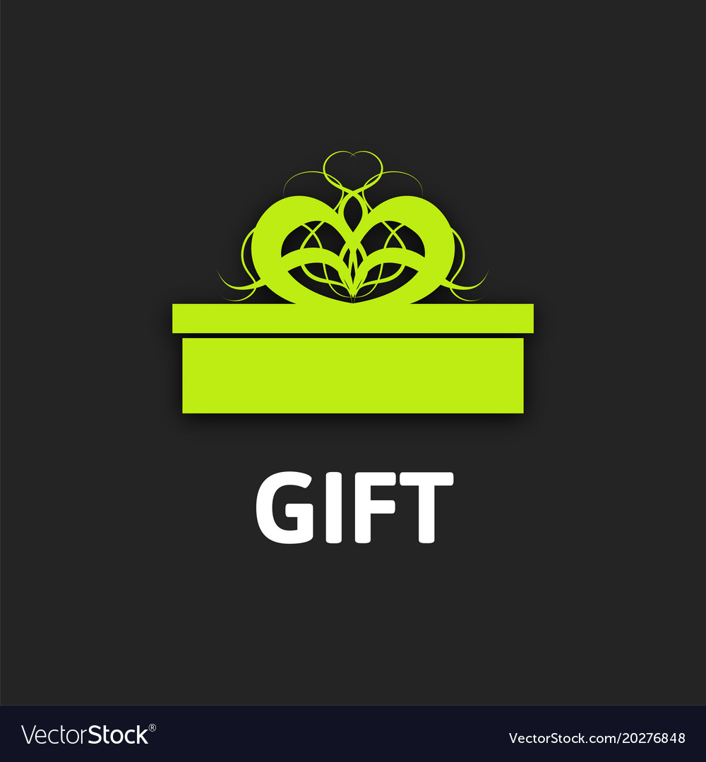 Gift box icon with ribbon flat design