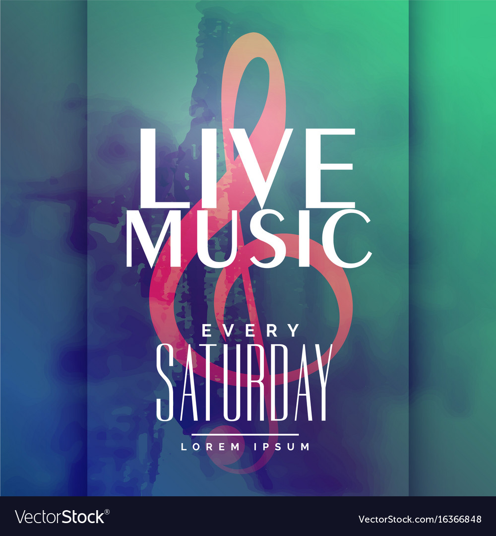 Live music event poster design template