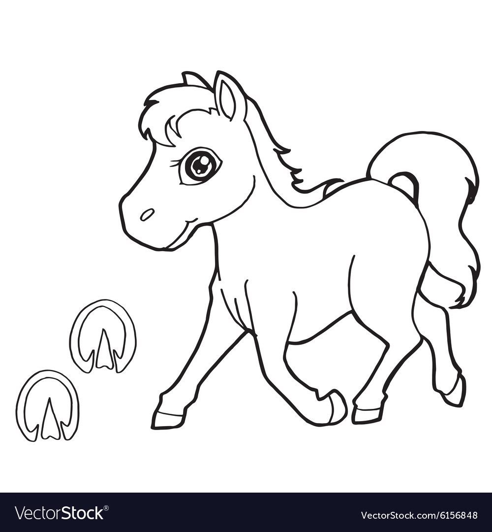 Horses Printable Coloring Page For Kids - Four magnificent horses ... | 1080x1000
