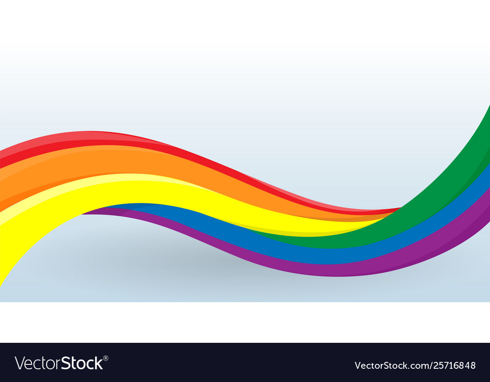 Rainbow flag lgbt movement modern unusual shape