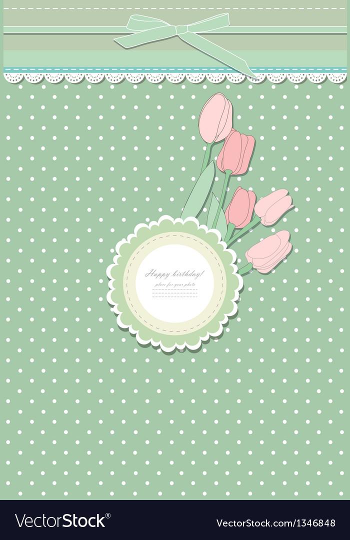 Retro fashion floral greeting card