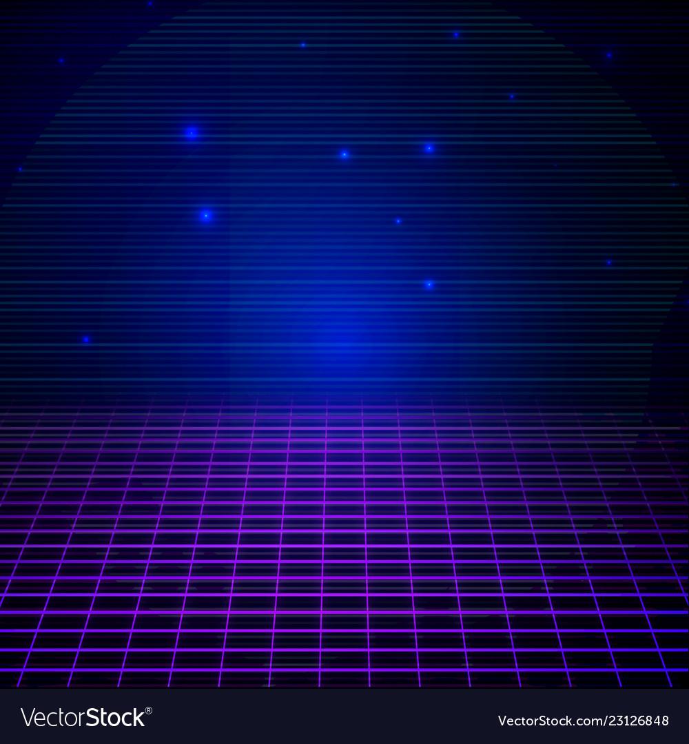 Retro sci fi background