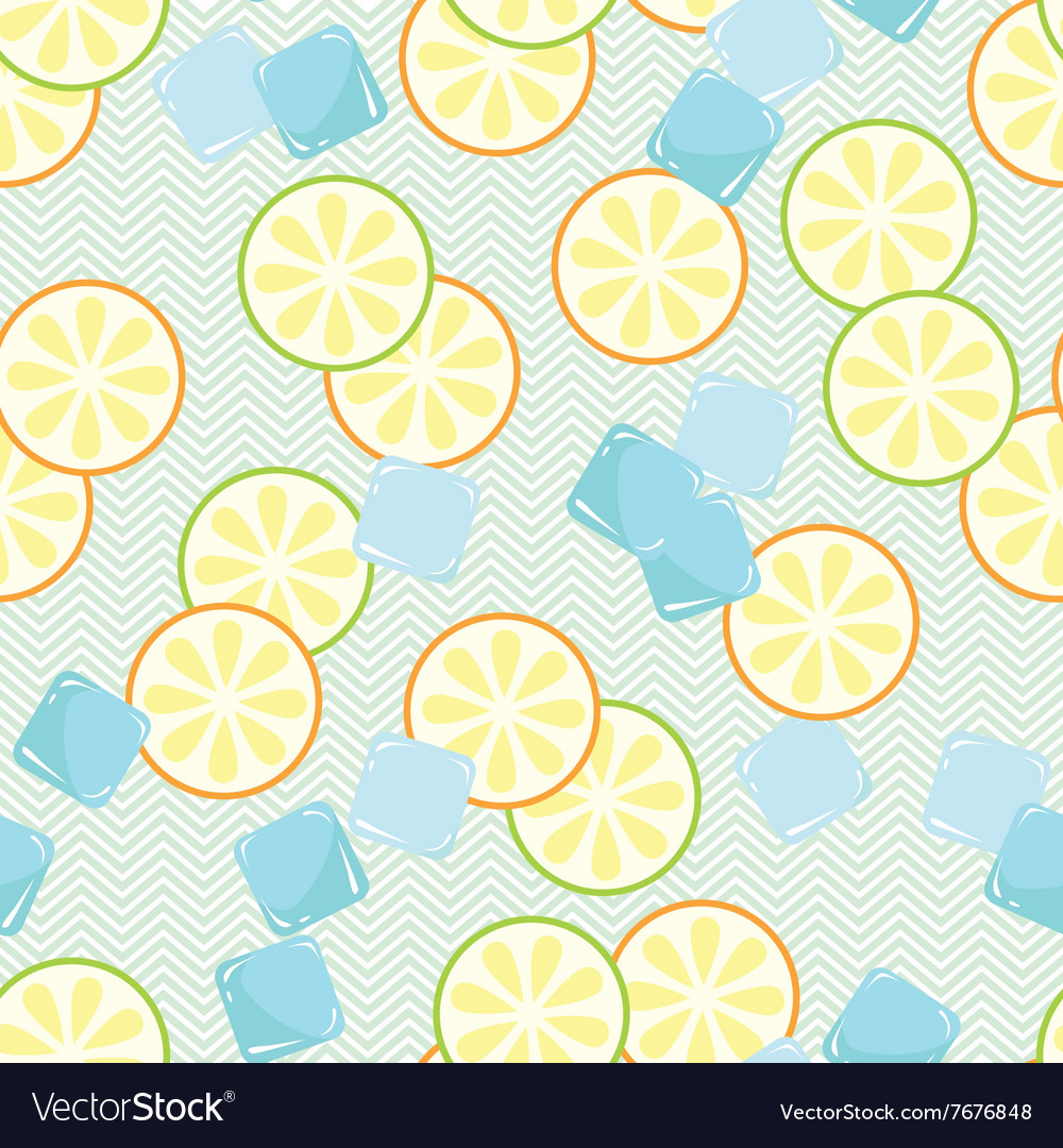 Seamless pattern with slice of lime