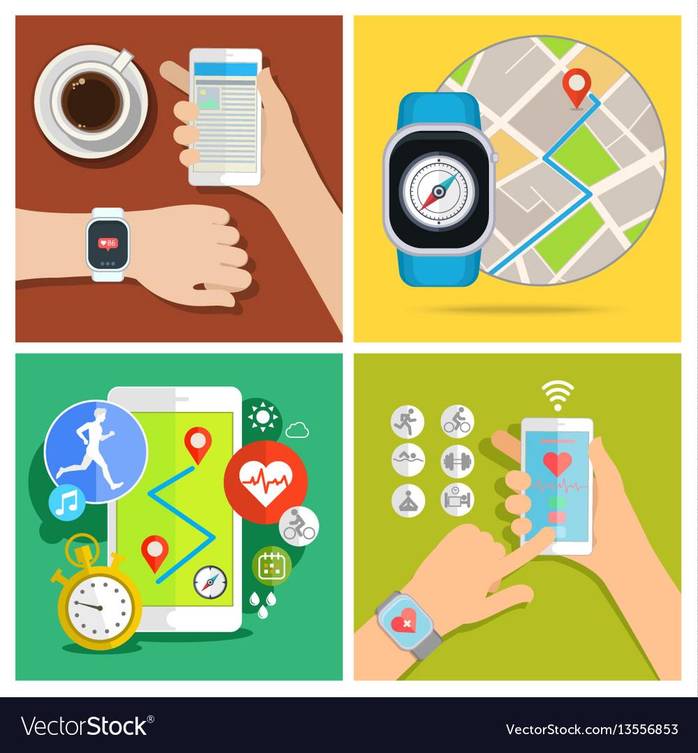 Concept of smart watch