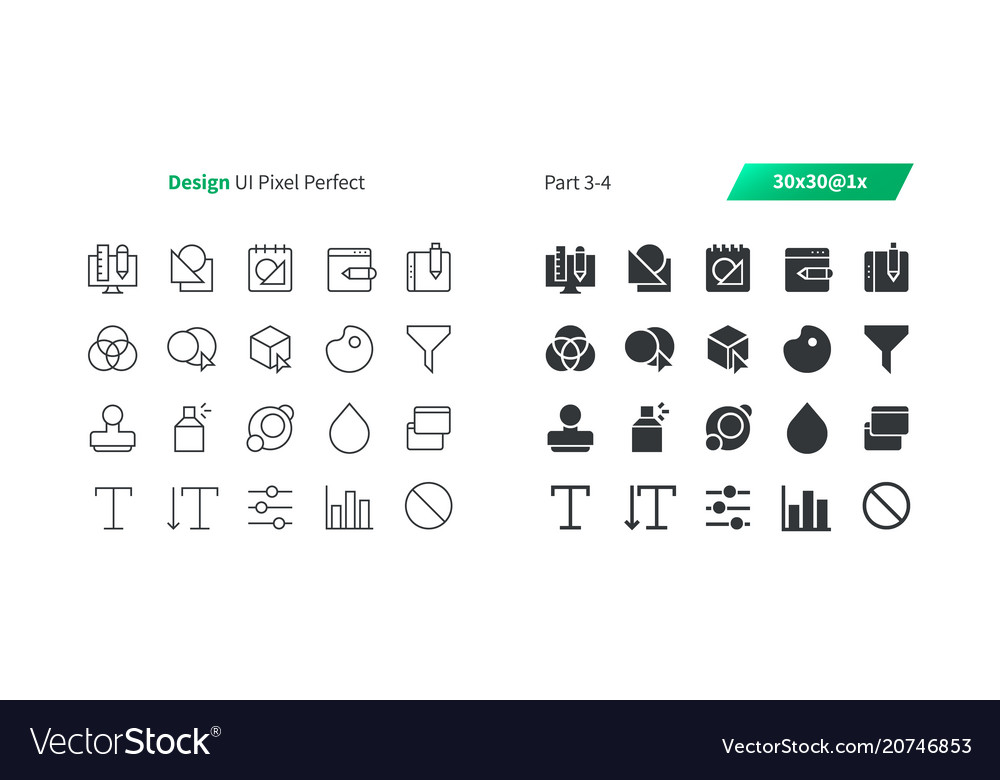 Graphic design ui pixel perfect well-crafted vector image