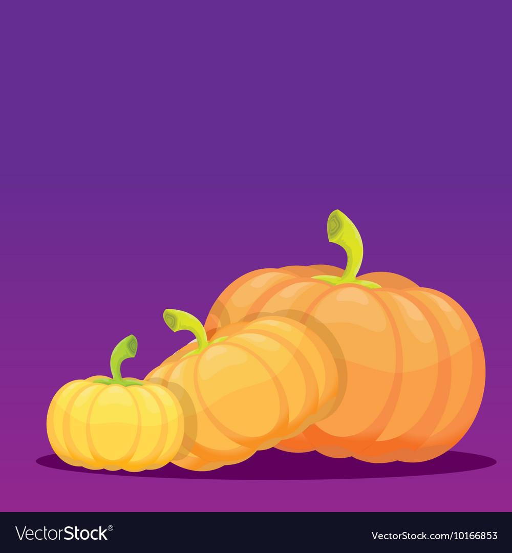 Halloween invitation border with pumpkins vector image