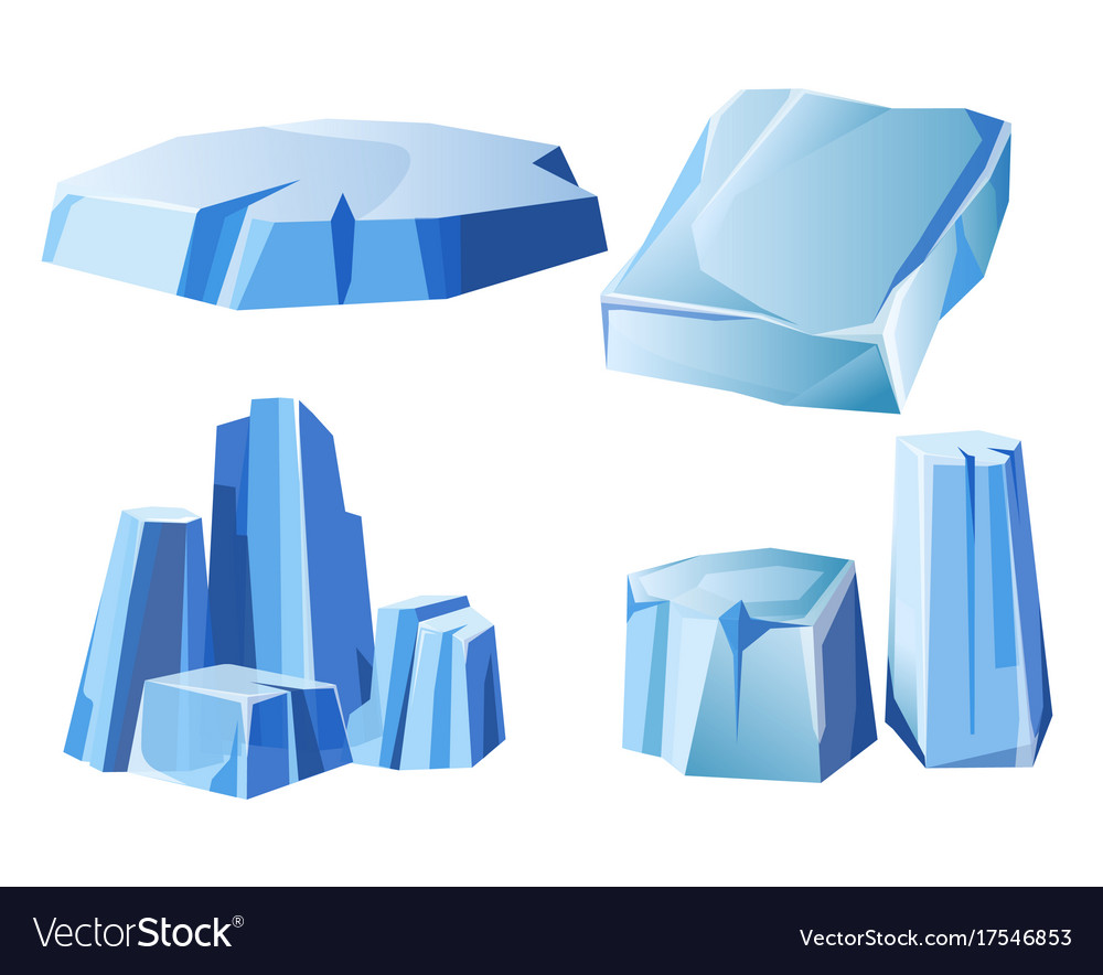 Ice rock iceberg or icy frozen snow mountain