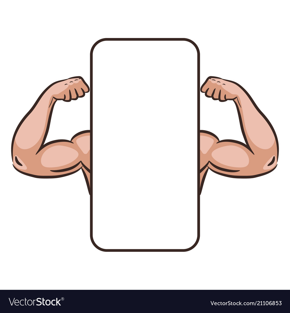 Muscle male arms mobile app banner template