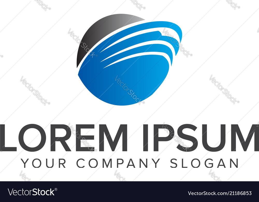Round blue logo telecommunications