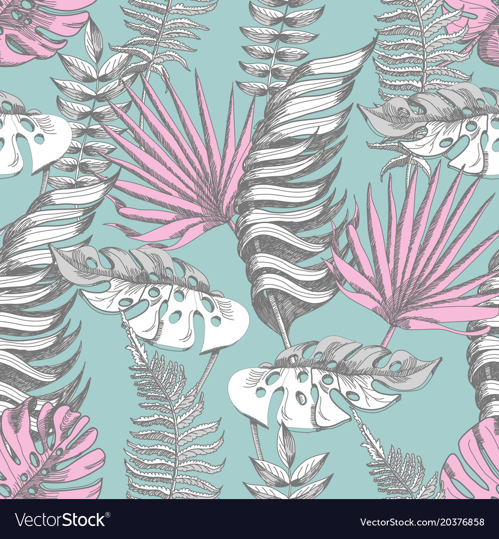 Delicate pink and blue seamless pattern