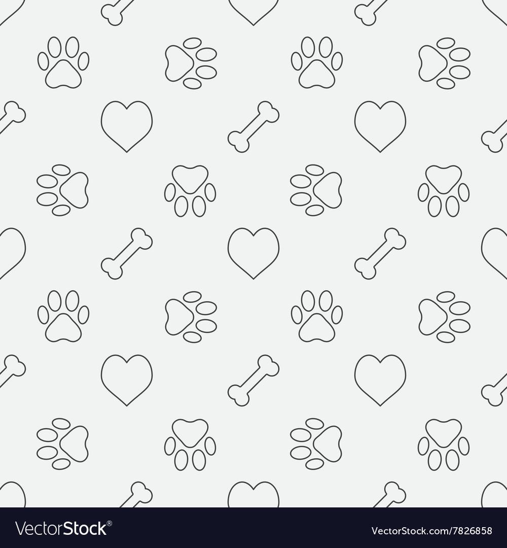 Dog minimal pattern vector image