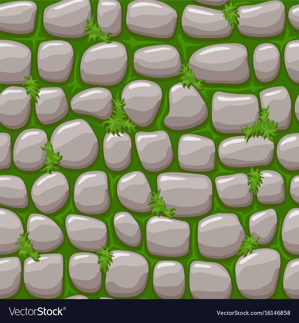 gray old stone on grass texture cartoon seamless vector image rh vectorstock com cartoon grass texture unity cartoon grass texture seamless