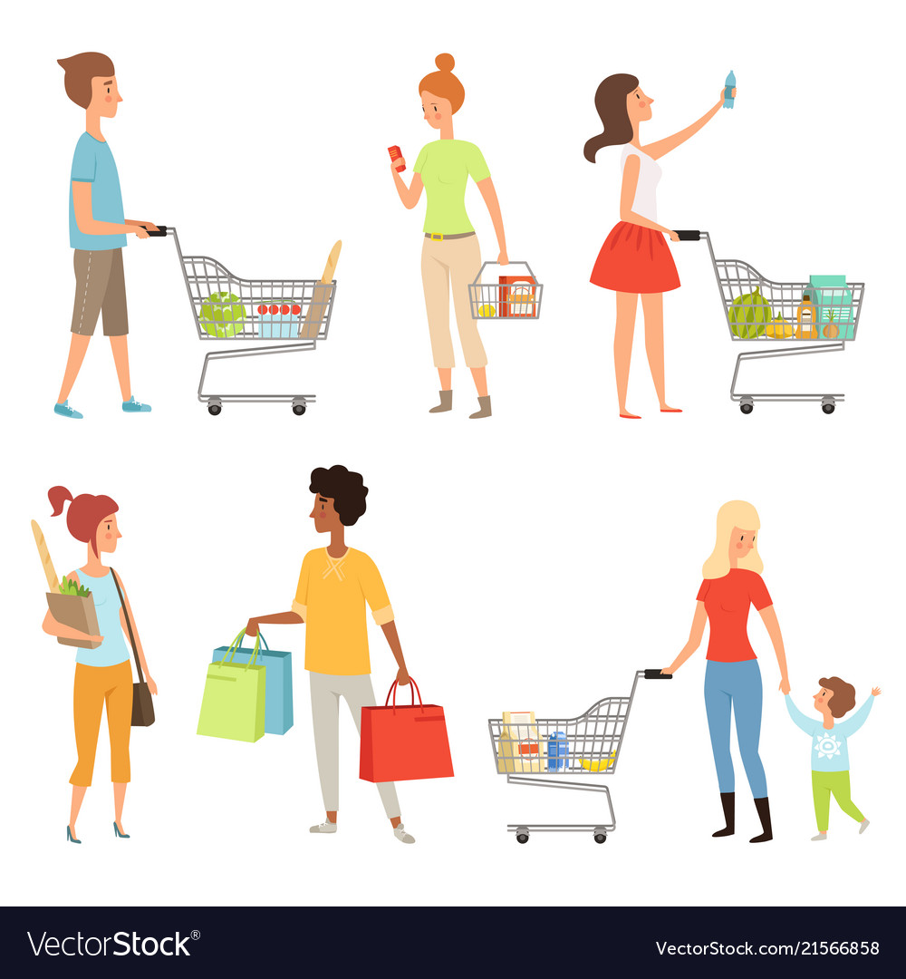 Peoples shopping of various