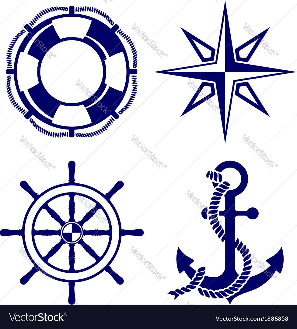Set of marine symbols
