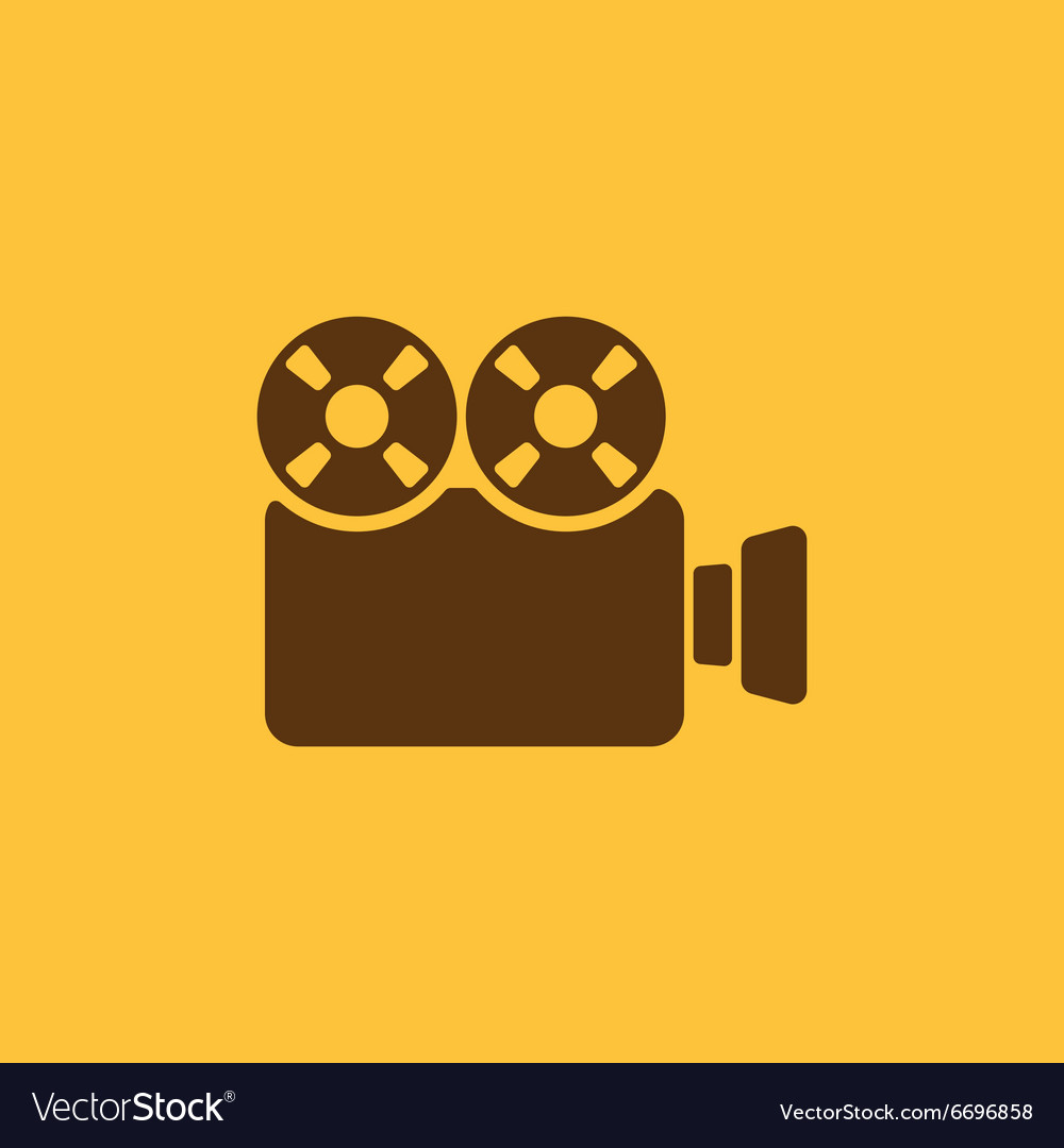 The video camera icon Camcorder symbol Flat