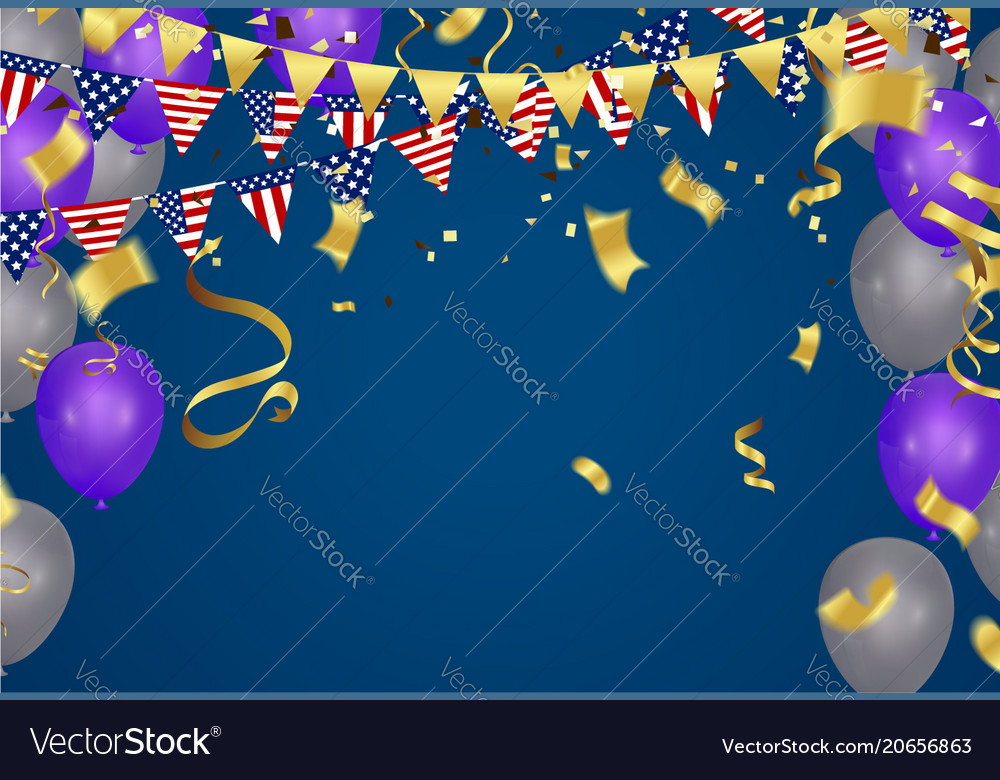 4th of july american independence day decorations vector image