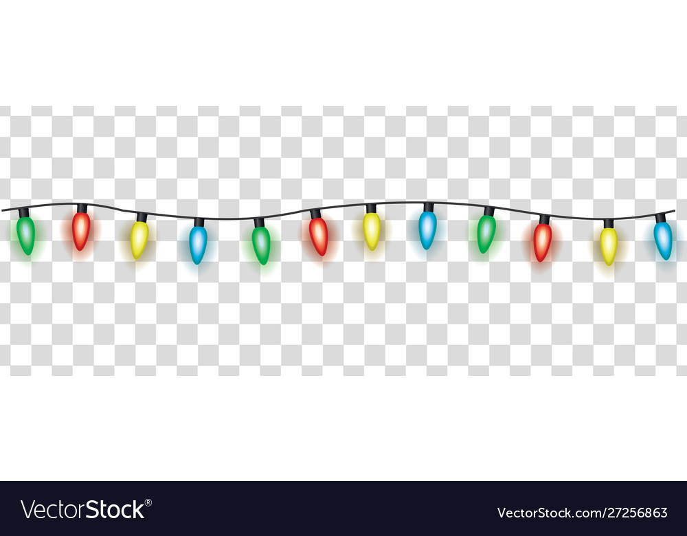 Colorful electric garland christmas lights cartoon